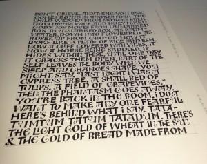 Ben Shahn practice lettering