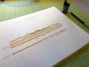 Penciling in guidelines