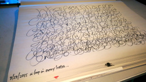 Cocoiro Brush and one rule: every letter mush have a loop