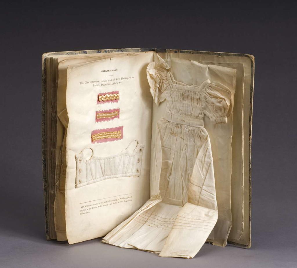 Needlework instruction book. Dublin, Ireland, 1833-37.