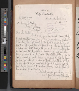 1904 letter from PW Costello to Horace G. Healey