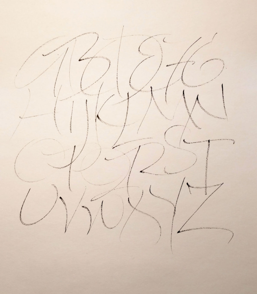 24 January daily alphabet - Sakura Calligrapher 20 marker