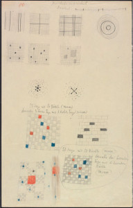 A page from a Paul Klee notebook, online at Zentrum