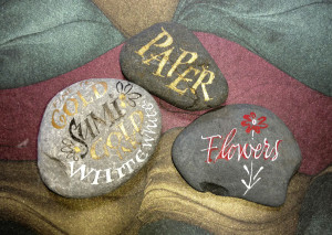 Some fun lettering on rocks