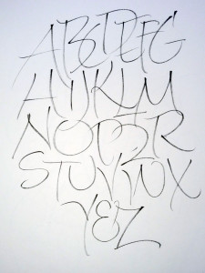 March 14 gestural alphabet done at the guild meeting