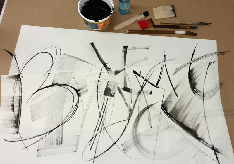 Process pic: mid-workshop with Suzanne Moore