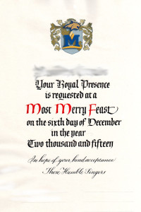 MSU madrigal dinner invitation scroll