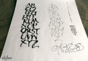 More alphabet, because it's easy to lose the gesture when the sentence comes into play.