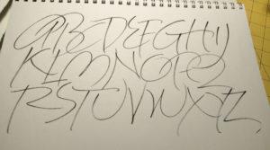 "Coicoro brush pen on Strathmore Drawing 300 paper, 11"" x 14""."